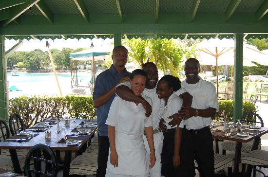 Holetown, Barbados: Some of the restaurant staff
