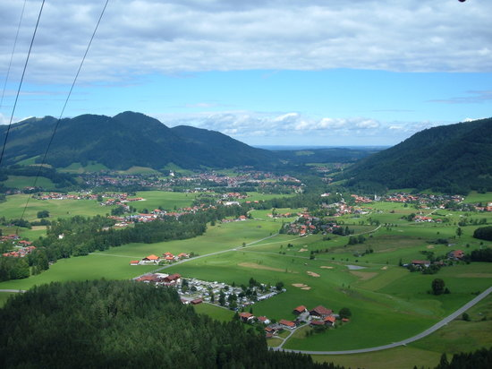 Ruhpolding, Duitsland: view from cable car