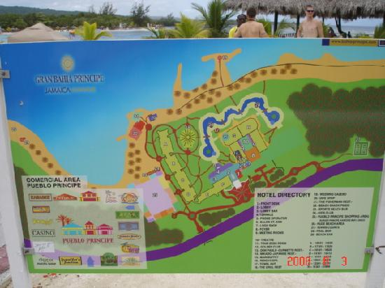 Grand Bahia Principe Jamaica Hotel Map