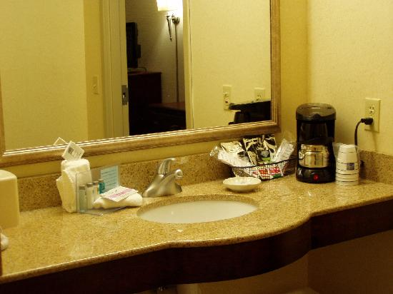 Hampton Inn & Suites Muncie : bathroom