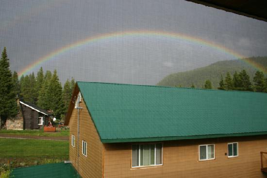 Cooke City, MT: Rainbow from Room