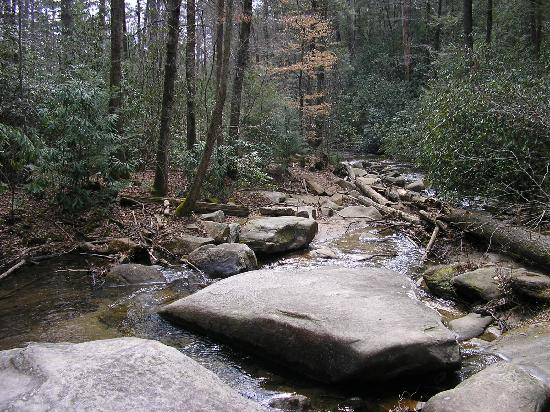 Table Rock State Park: waterfalls along the Carrick Trail