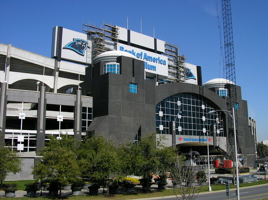 Charlotte, Karolina Północna: Bank of America Stadium, home of The Panthers.
