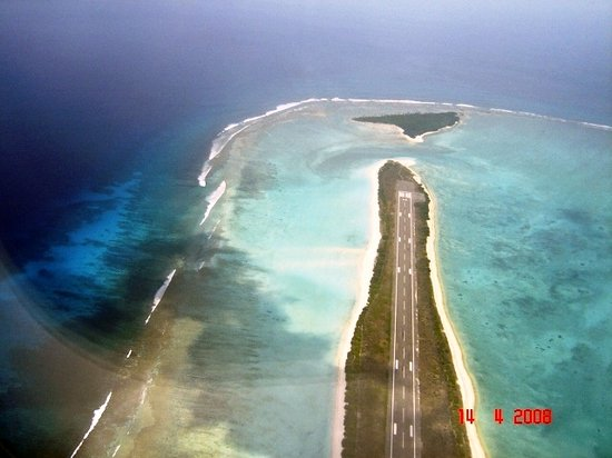 Lakshadweep, India: Agatti Runway from the Air