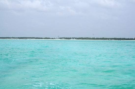 Lakshadweep, Indien: The brilliant Turquoise Blue lagoon water