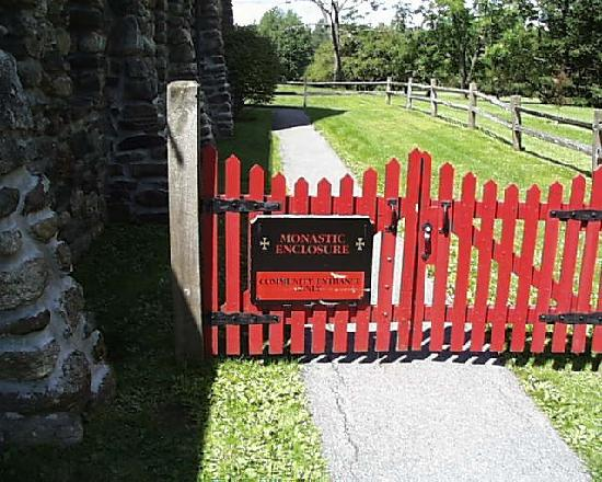 Saint Joseph's Abbey: The Monastic Enclosure Sign limiting access of the public to certain areas.