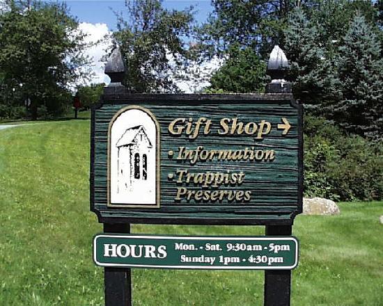 Saint Joseph's Abbey: Gift Shop Sign
