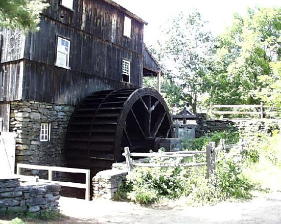 Old Sturbridge Village: The Grist Mill from the Side