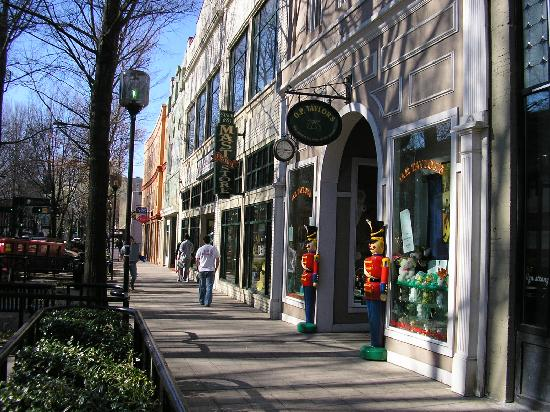 Greenville, SC: a view of Main Street, downtown