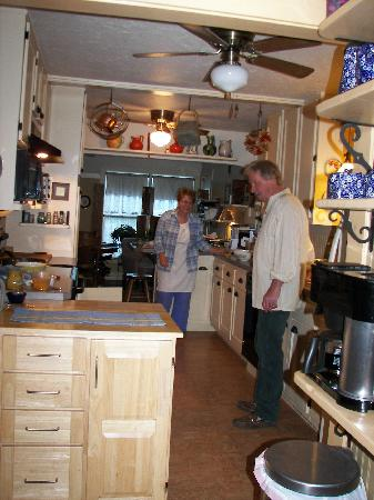 Quigley Cottage Bed & Breakfast: Owners in their Galley