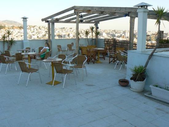 Acropolis Hill Hotel: Die Terrasse - ohne Frühstück