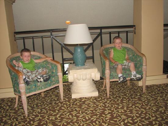 Hotel 2nd floor lobby area
