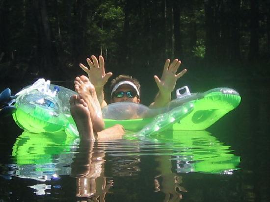 Ginnie Springs: tubing on the santa fe river