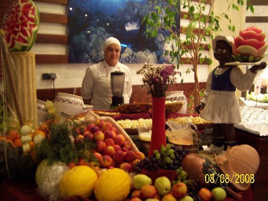Vincci El Mansour: restaurant - buffet jus de fruits frais