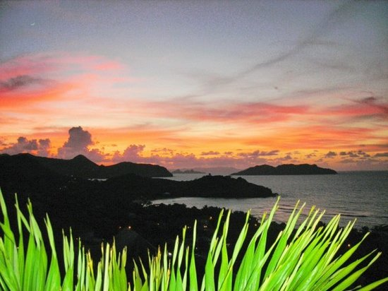 Saint-Barthélemy : Beautiful sunset from Villa Santal