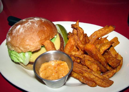 Highland Grill: Veggie burger with sweet potato fries