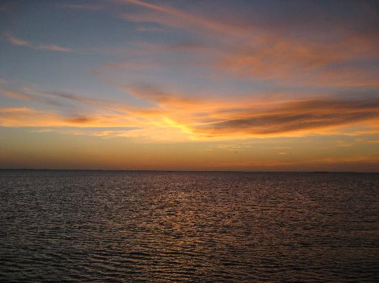 Rockport, TX: Sunset from the cruise boat