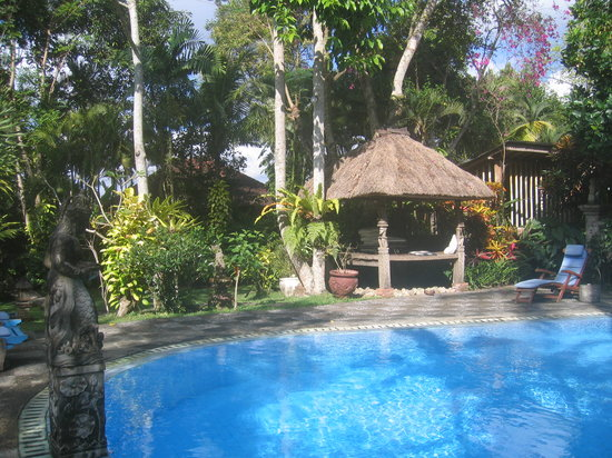 Puri Asri Petulu: Lovely pool and garden