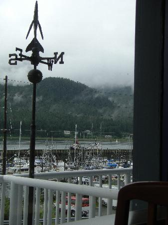 Morning view of harbor from Breakwater Inn Restaurant
