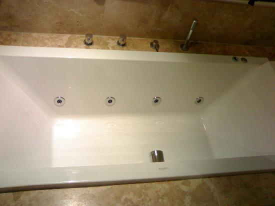 Higher Riscombe Luxury Bed and Breakfast: Jacuzzi Bath.