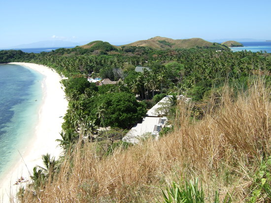 Mana Island, Fidschi: View of North Beach from lookout