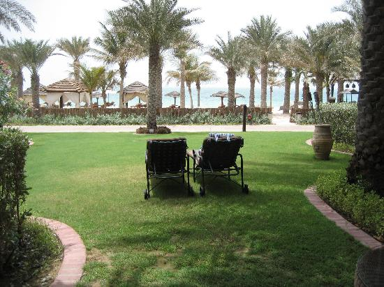 Jumeirah Dar Al Masyaf at Madinat Jumeirah: View of the beach from our room (0105)