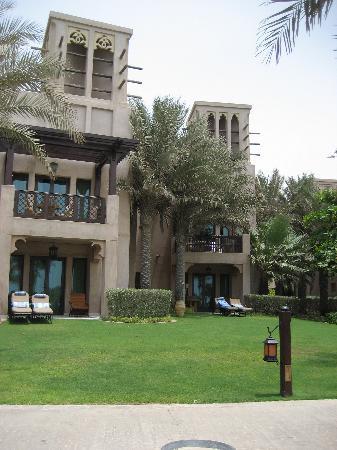 Jumeirah Dar Al Masyaf at Madinat Jumeirah: View of our villa (Villa 1) from the beach