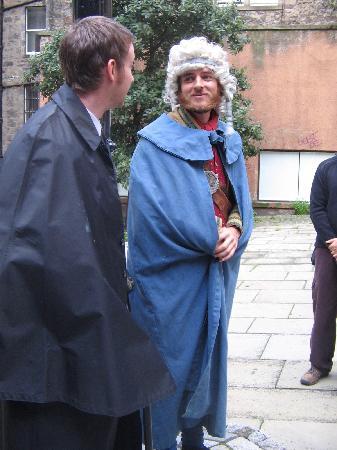 Edinburgh, UK: Mr Clapperton and Royal Blue-Gowned Beggar