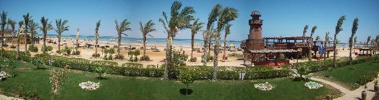 Coral Sea Holiday Village: View of the beach from the hotel