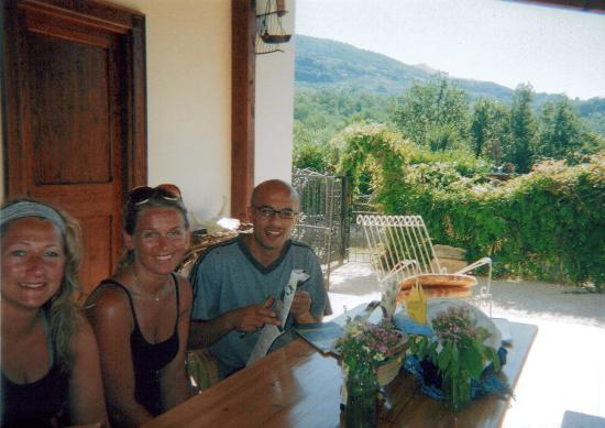 Italy Farm Stay: Antonello talking with guests