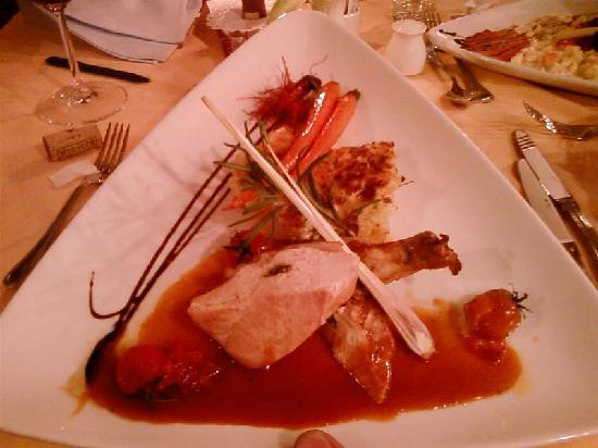 Hotel Badhaus : Una portata al ristorante