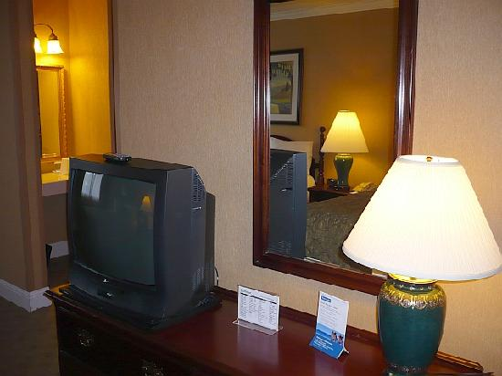 The Dylan Hotel at SFO: TV and dresser