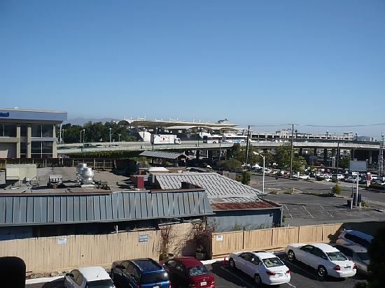 The Dylan Hotel at SFO: Bart Station taken from hotel by day