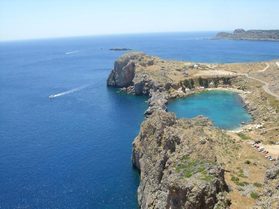 Rhodes, Greece: St Pauls Bay from Acopolis