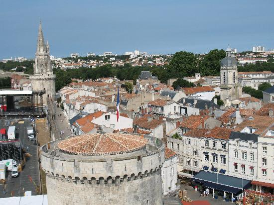 La Rochelle, Francia: View of the town from one of the harbour towers