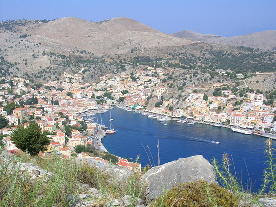 Overlooking Yialos (Symi harbour)