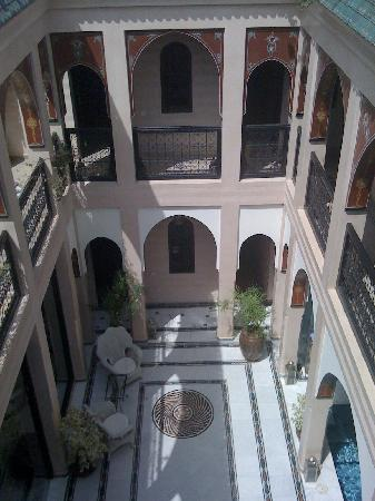 Riad Dar Anika: View of the riad from the rooftop terrace