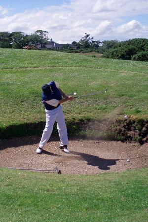 New Course at St. Andrews Links: Fairway bunkering on the New Course