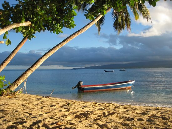 Qamea Island, Fiji: same view, near sunset