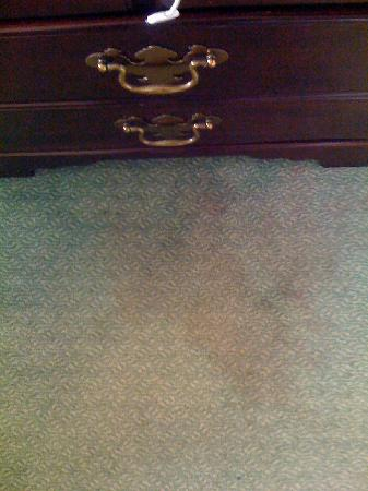 Carlyle Hotel: Stain on floor.