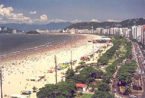 Guinnes Record for longest beach Garden - Santos