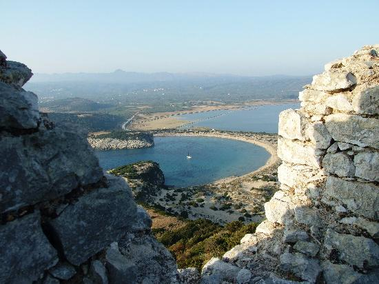 Gialova, Greece: View of Voidikilia Bay from the Fort