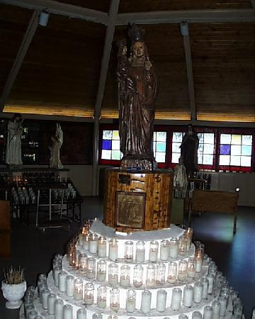 Fiskdale, MA: Statue of St. Anne in the Votive Chapel
