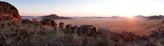 Sesriem, Namibia: View from Sundowner Point, on the Little Sossus property