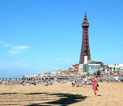 Blackpool, UK: Beach and Tower