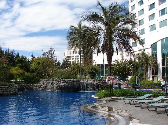 JW Marriott Hotel Quito: The gorgous pool area - didn't feel like an urban hotel at all!