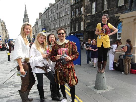 Edinburgh, UK: The Royal Mile during The Fringe Festival