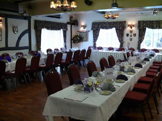 Grange Moor Hotel: Tables laided out for reception