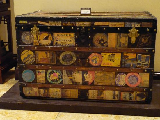 8290067387f Vintage Louis Vuitton trunk on display - Picture of Sofitel Legend ...