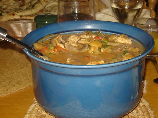 Hillcrest House: Thai curry - delicious!